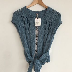 [NWT Free People] Knit Waistcoat with Tie